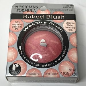 Physicians Formula Baked Wet/Dry Blush BERRY Pink